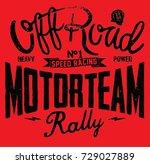 rally off road motor team | Shutterstock .eps vector #729027889