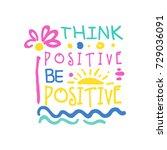 think positive do positive... | Shutterstock .eps vector #729036091