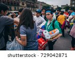 mexico   september 20  people...   Shutterstock . vector #729042871