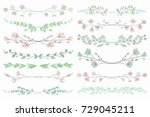 colorful hand drawn doodle... | Shutterstock .eps vector #729045211