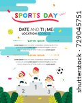sports day poster invitation... | Shutterstock .eps vector #729045751