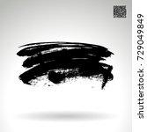 black brush stroke and texture. ... | Shutterstock .eps vector #729049849