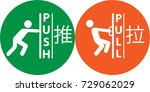 push and pull icon  nameplate   Shutterstock .eps vector #729062029