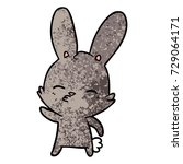 curious bunny cartoon   Shutterstock .eps vector #729064171