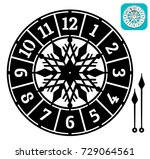 simple clock face with arabic... | Shutterstock .eps vector #729064561