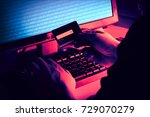hands of anonymous hackers...   Shutterstock . vector #729070279