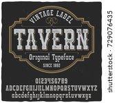 vintage label typeface named ... | Shutterstock .eps vector #729076435
