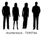 two businessmen and two... | Shutterstock . vector #7290766