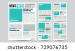newspaper design template.... | Shutterstock . vector #729076735