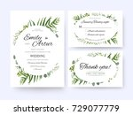 wedding invite  invitation rsvp ... | Shutterstock .eps vector #729077779