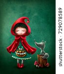little red riding hood and the... | Shutterstock . vector #729078589
