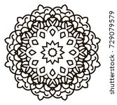 mandala. black and white... | Shutterstock . vector #729079579