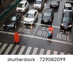 september 10  2017. a traffic... | Shutterstock . vector #729082099