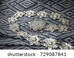 silk with beautiful designs and ... | Shutterstock . vector #729087841