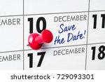 wall calendar with a red pin  ...   Shutterstock . vector #729093301
