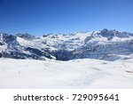 mountains covered with snow ...   Shutterstock . vector #729095641
