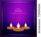 abstract happy diwali stylish... | Shutterstock .eps vector #729096364