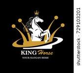 Stock vector king horse logo horse logo vector logo template 729103201