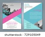 abstract minimal geometric... | Shutterstock .eps vector #729105049