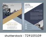 abstract minimal geometric... | Shutterstock .eps vector #729105109