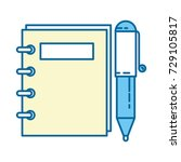 note book with pen | Shutterstock .eps vector #729105817