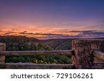 Sunrise from Wolf Creek Overlook along Little River Canyon.