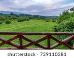 scenic view from lodge terrace...   Shutterstock . vector #729110281