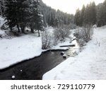 Winter Stream In The Mountains...