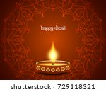 abstract happy diwali vector... | Shutterstock .eps vector #729118321