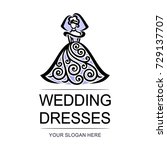 vector logo   wedding dresses.... | Shutterstock .eps vector #729137707