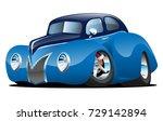 classic street rod coupe custom ...   Shutterstock .eps vector #729142894