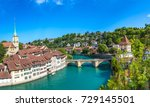 panoramic view of bern in a... | Shutterstock . vector #729145501