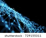 abstract futuristic low poly... | Shutterstock . vector #729155311