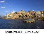 old city yaffo. a view on port...   Shutterstock . vector #72915622