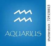 aquarius zodiac sign icon.... | Shutterstock .eps vector #729158815