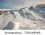 winter mountain landscape   ski ... | Shutterstock . vector #729169969
