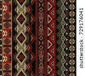 geometric ornament for ceramics ... | Shutterstock .eps vector #729176041