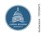united states capitol building... | Shutterstock .eps vector #729190471