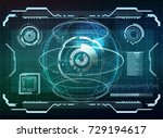futuristic user interface hud... | Shutterstock .eps vector #729194617
