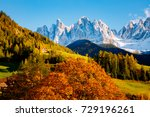 magic image of sunny hills in... | Shutterstock . vector #729196261