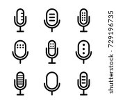 microphones icon set | Shutterstock .eps vector #729196735