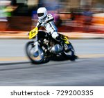 motorcycle racer with white... | Shutterstock . vector #729200335