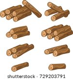 cartoon vector sawed woods... | Shutterstock .eps vector #729203791