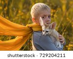 a boy in the image of the... | Shutterstock . vector #729204211