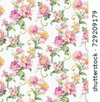 flowers pattern.for textile ... | Shutterstock . vector #729209179