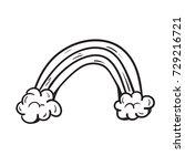 rainbow doodle  | Shutterstock .eps vector #729216721