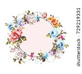 circle background with shabby... | Shutterstock .eps vector #729219331