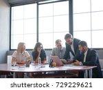 business consultants working in ... | Shutterstock . vector #729229621