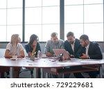 business consultants working in ... | Shutterstock . vector #729229681