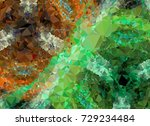 abstract multicolor mosaic... | Shutterstock .eps vector #729234484
